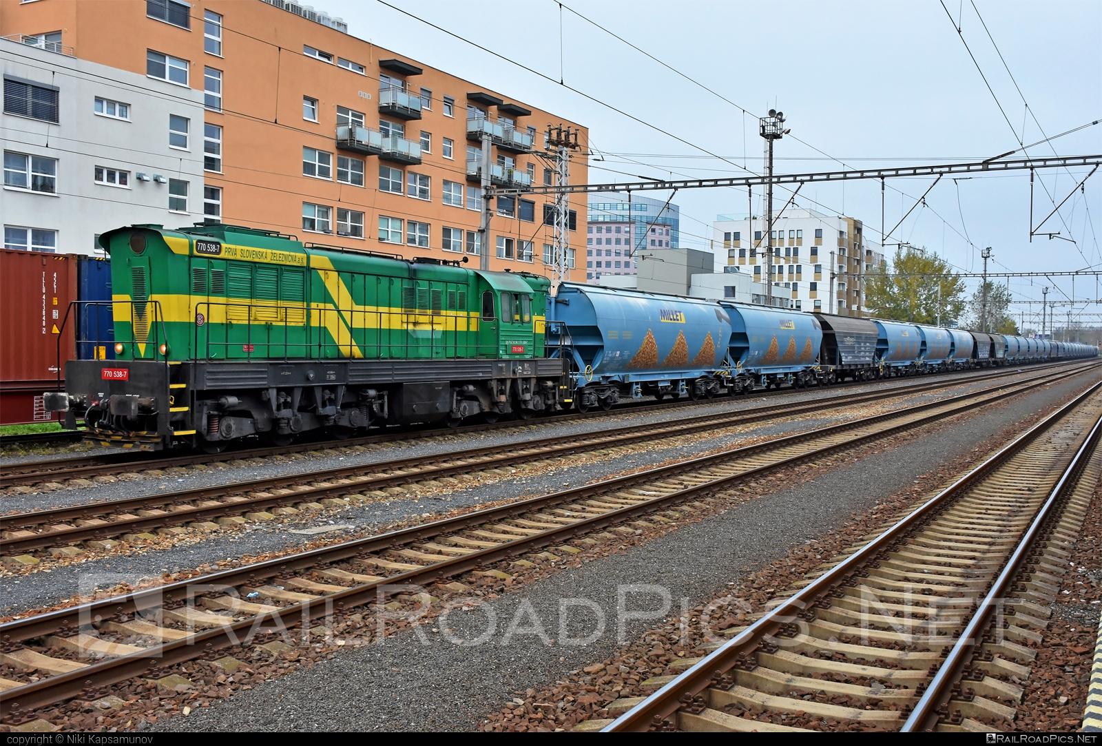 ČKD T 669.0 (770) - 770 538-7 operated by Prvá Slovenská železničná, a.s. #ckd #ckd6690 #ckd770 #ckdt6690 #cmeliak #hopperwagon #millet #prvaslovenskazeleznicna #prvaslovenskazeleznicnaas #psz #tagnpps