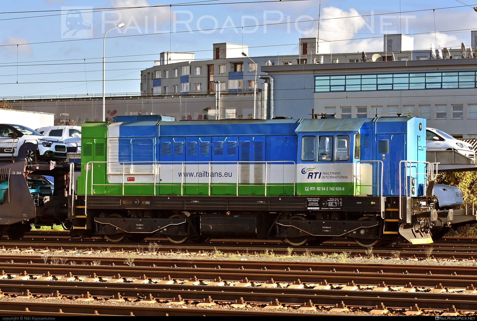 ČKD T 466.2 (742) - 742 026-8 operated by Railtrans International, s.r.o #ckd #ckd4662 #ckd742 #ckdt4662 #railtrans #rti