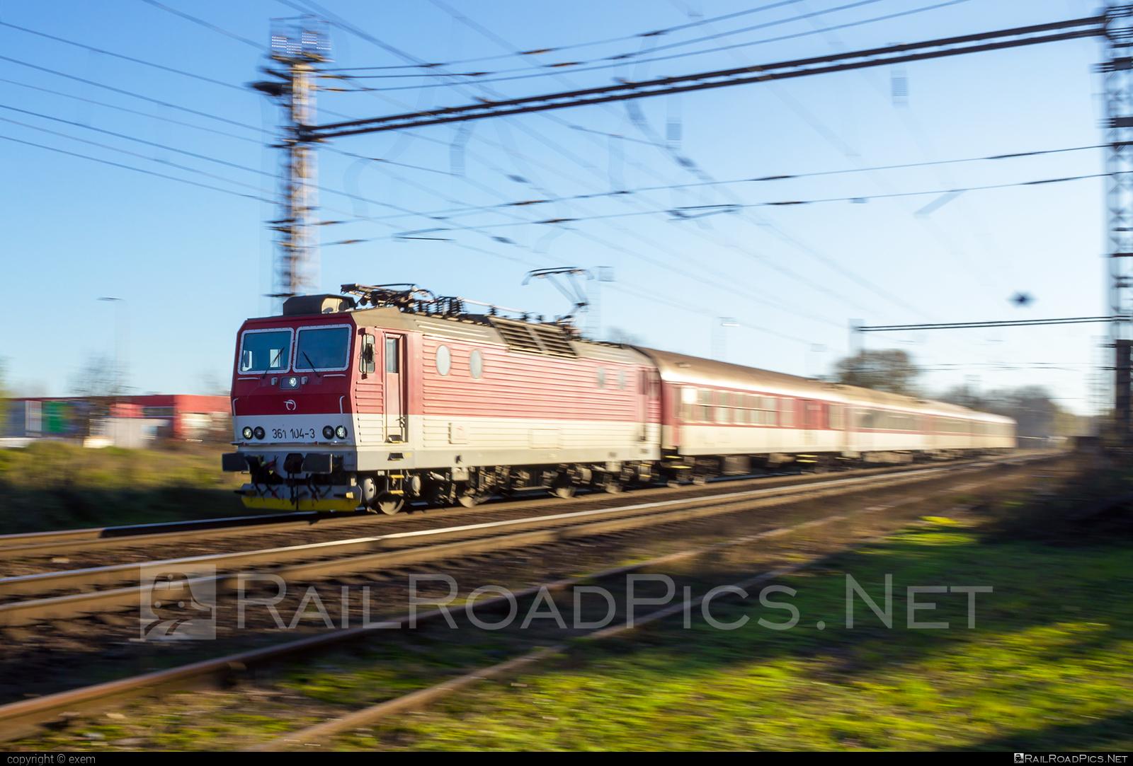 ŽOS Vrútky Class 361.1 - 361 104-3 operated by Železničná Spoločnost' Slovensko, a.s. #ZeleznicnaSpolocnostSlovensko #locomotive361 #locomotive3611 #zosvrutky #zssk