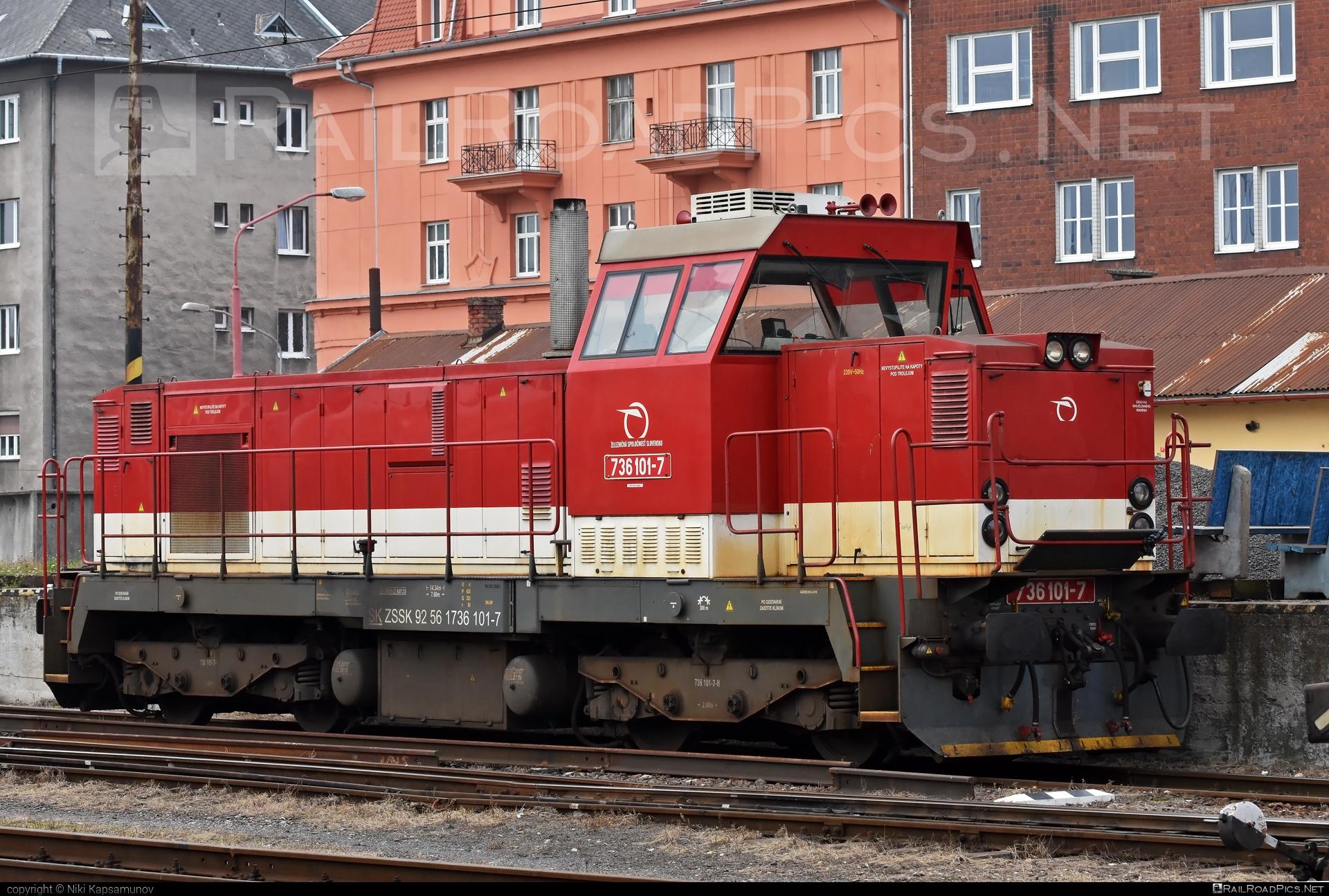ŽOS Zvolen Class 736 - 736 101-7 operated by Železničná Spoločnost' Slovensko, a.s. #ZeleznicnaSpolocnostSlovensko #locomotive736 #zoszvolen #zoszvolen736 #zssk