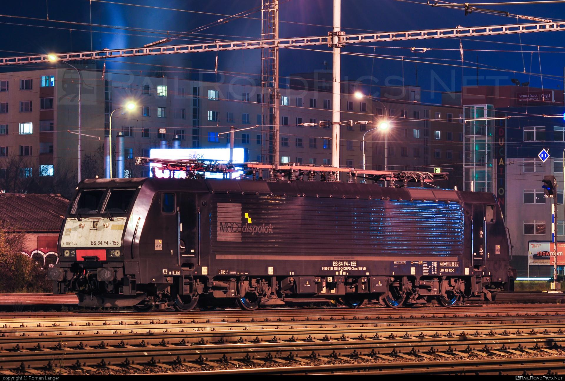 Siemens ES 64 F4 - 189 155-5 operated by Retrack Slovakia s. r. o. #dispolok #es64 #es64f4 #eurosprinter #mitsuirailcapitaleurope #mitsuirailcapitaleuropegmbh #mrce #retrack #retrackslovakia #siemens #siemenses64 #siemenses64f4