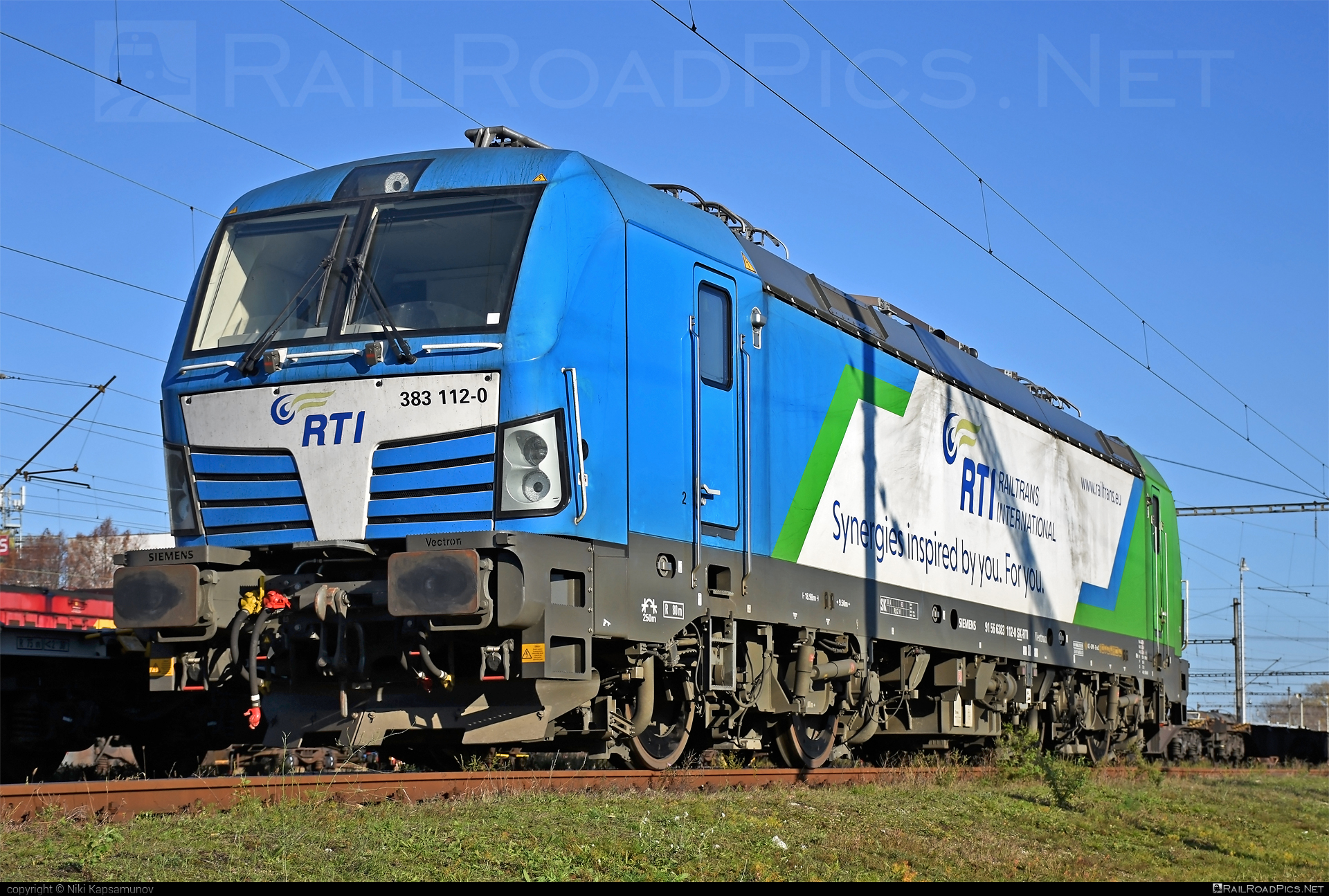 Siemens Vectron MS - 383 112-0 operated by Railtrans International, s.r.o #rti #siemens #siemensvectron #siemensvectronms #vectron #vectronms