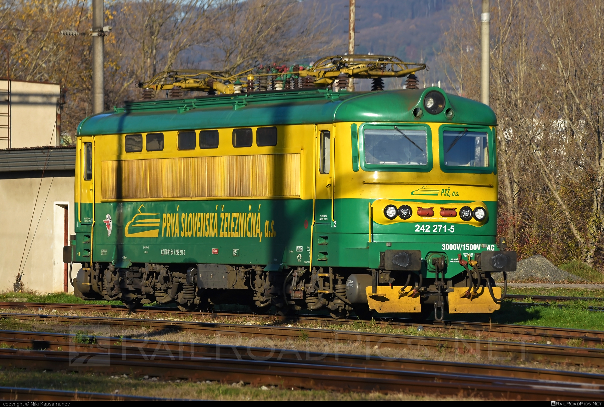 Škoda 73E - 242 271-5 operated by Prvá Slovenská železničná, a.s. #locomotive242 #plechac #prvaslovenskazeleznicna #prvaslovenskazeleznicnaas #psz #skoda #skoda73e