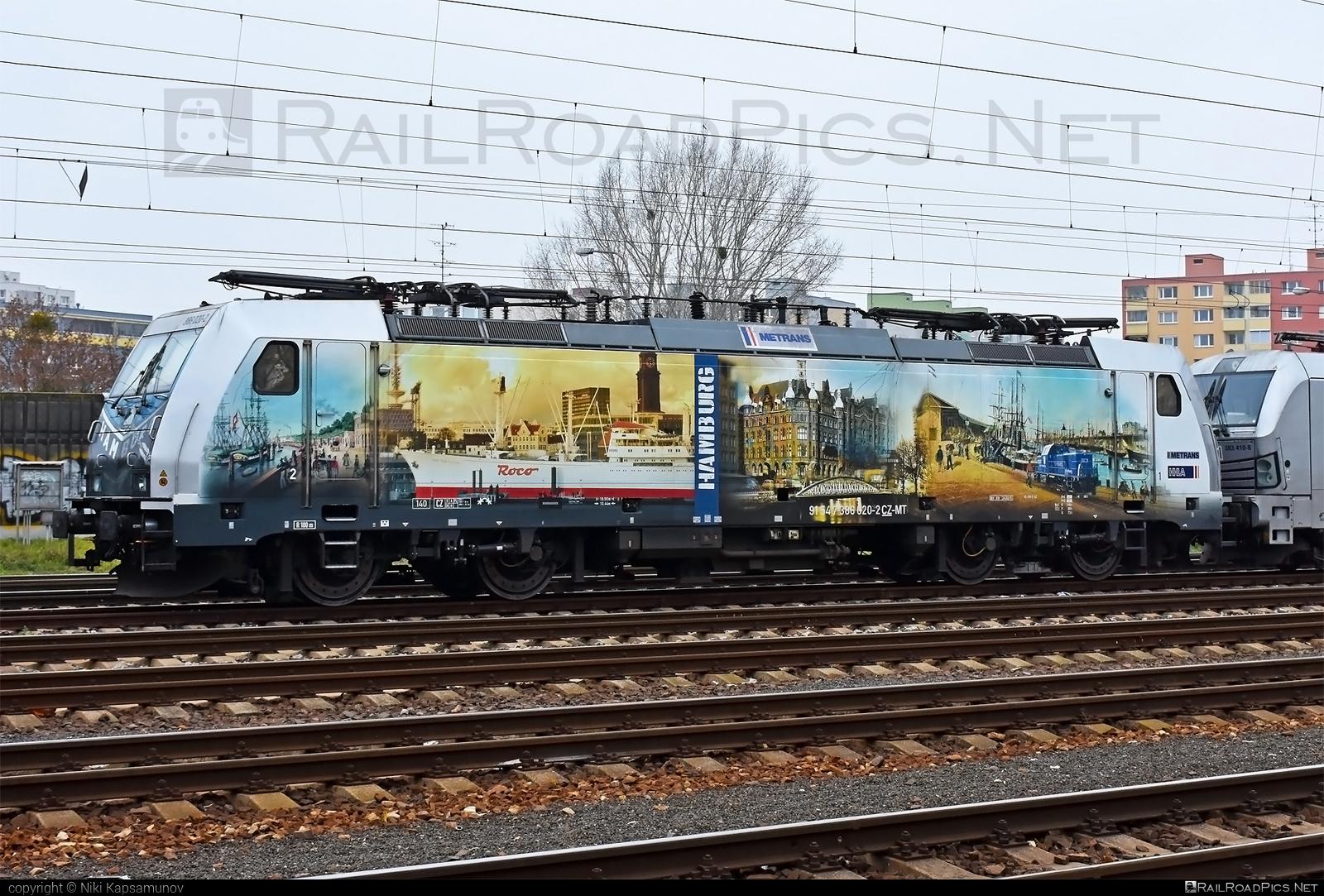 Bombardier TRAXX F140 MS - 386 020-2 operated by METRANS, a.s. #bombardier #bombardiertraxx #hamburg #hhla #metrans #traxx #traxxf140 #traxxf140ms