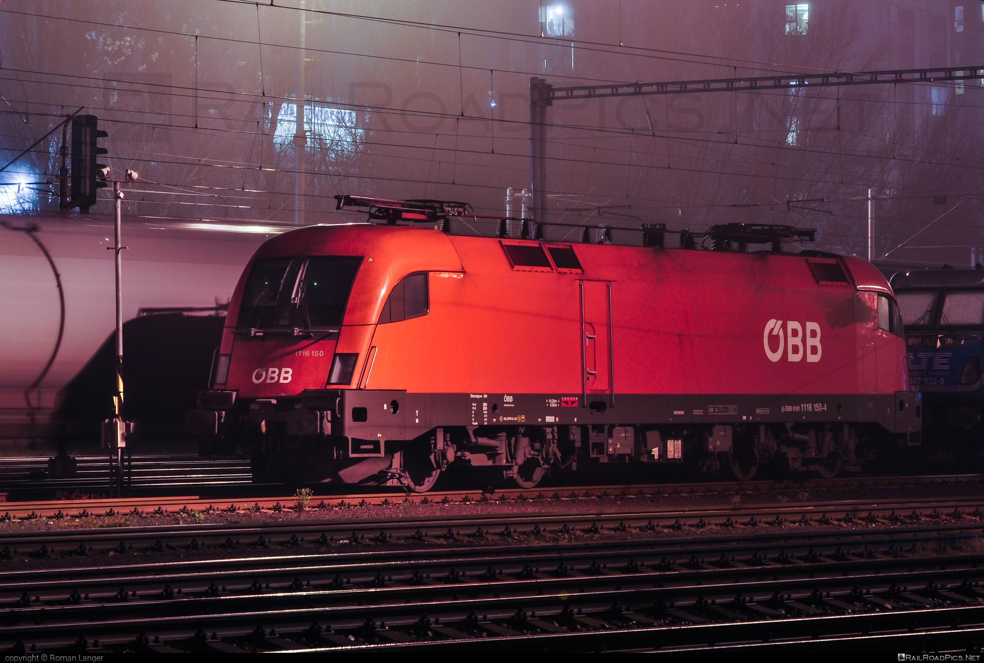 Siemens ES 64 U2 - 1116 150 operated by Rail Cargo Austria AG #es64 #es64u #es64u2 #eurosprinter #obb #osterreichischebundesbahnen #rcw #siemens #siemenses64 #siemenses64u #siemenses64u2 #siemenstaurus #taurus #tauruslocomotive