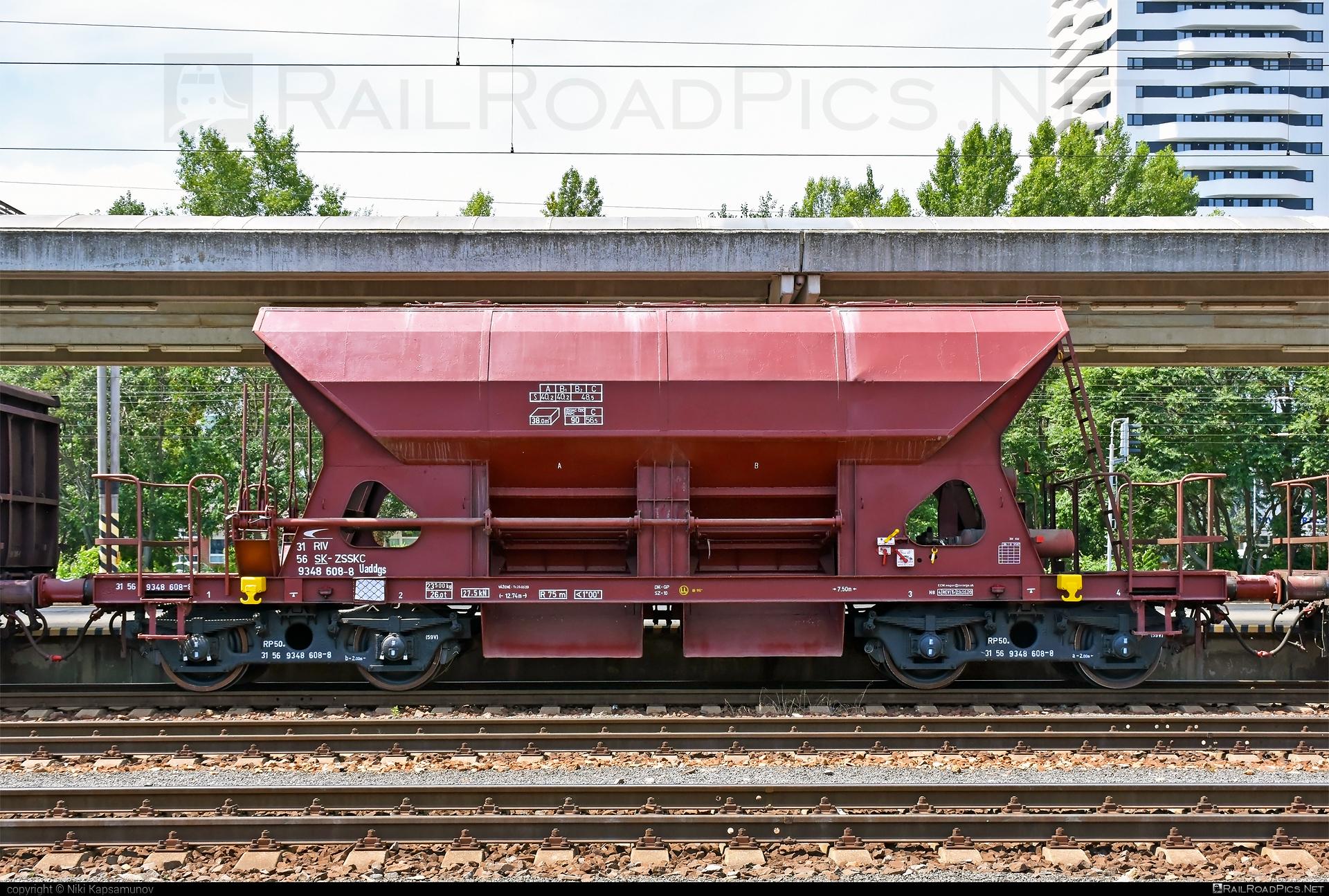 Class U - Uaddgs - Uaddgs - 31 56 9348 608-8 operated by Železničná Spoločnost' Cargo Slovakia a.s. #ZeleznicnaSpolocnostCargoSlovakia #hopperwagon #uaddgs #zsskcargo