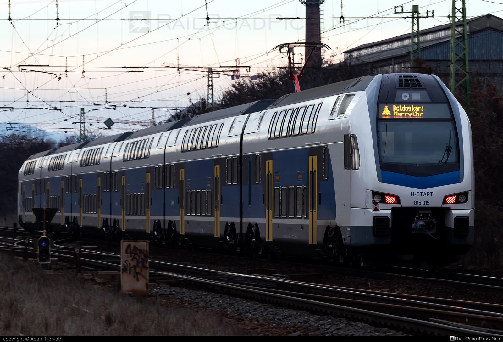 Stadler KISS - 815 015 operated by MÁV-START ZRt. #mav #mavstart #mavstartzrt #stadler #stadlerkiss #stadlerrail #stadlerrailag