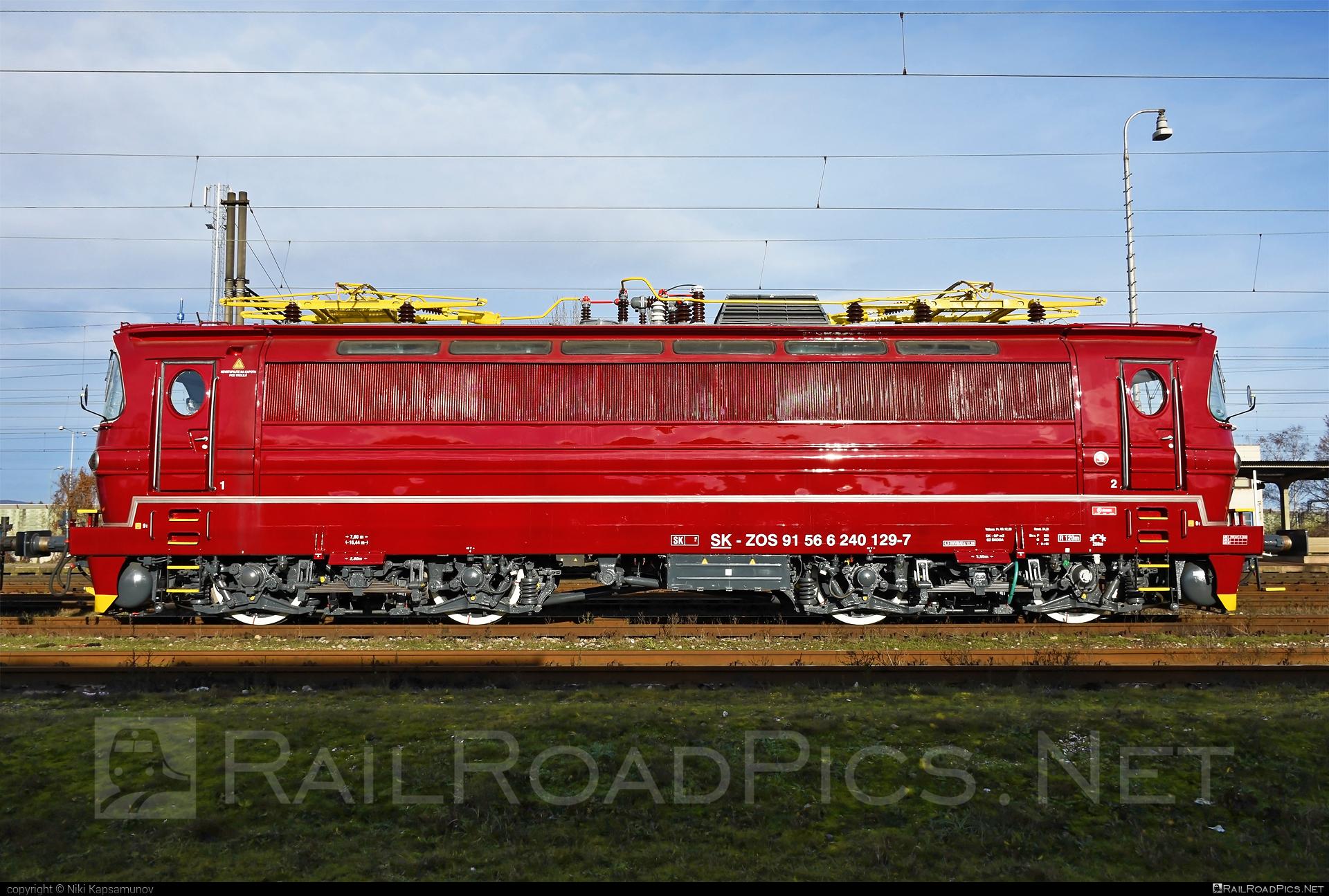 Škoda 47E - 240 129-7 operated by ZOS ZVOLEN s.r.o. #laminatka #locomotive240 #skoda #skoda47e #zoszvolen