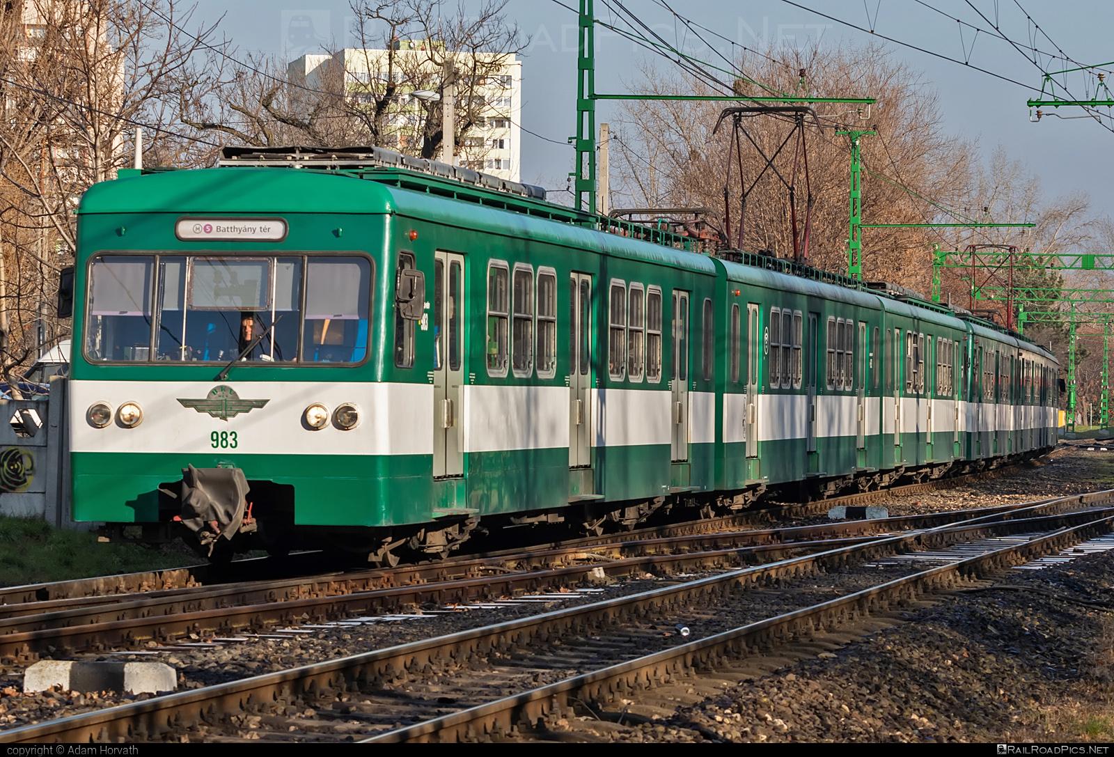 LEW Hennigsdorf MXa - 983 operated by Budapesti Helyi Érdekü Vasút #BudapestiHelyiErdekuVasut #bhev #hansbeimler #lewhennigsdorf #lewmxa