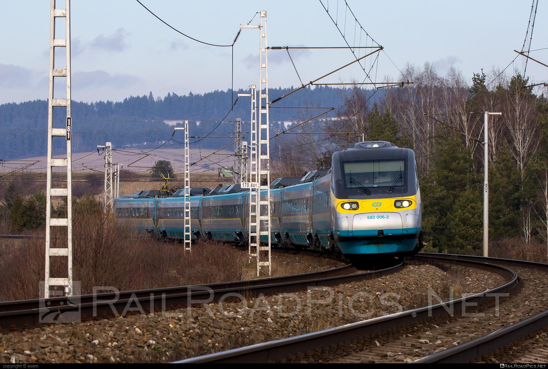 Alstom ČD Class 680 Pendolino - 682 006-2 operated by České dráhy, a.s. #CDclass680 #alstom #cd #ceskedrahy #pendolino