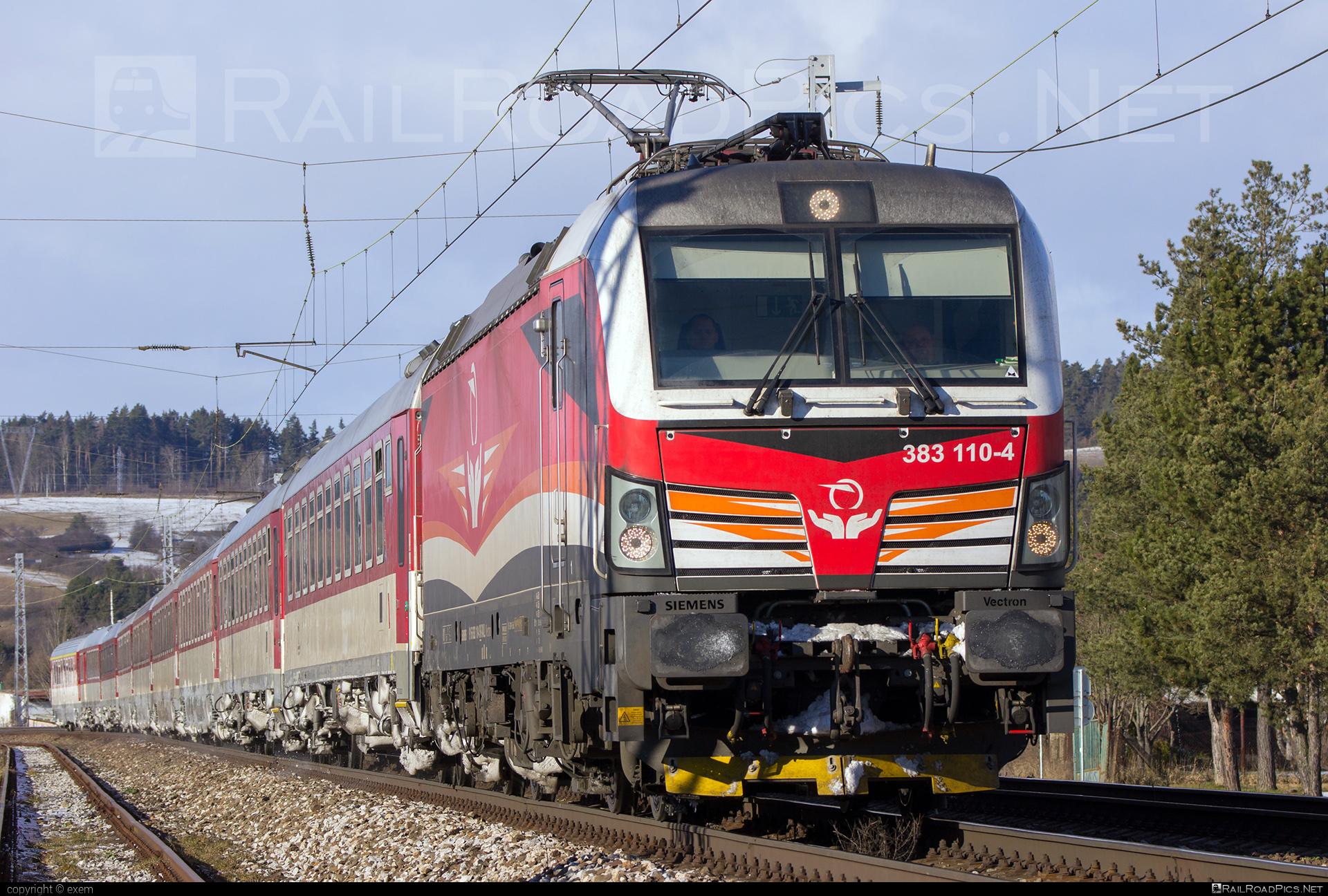 Siemens Vectron MS - 383 110-4 operated by Železničná Spoločnost' Slovensko, a.s. #RollingStockLease #RollingStockLeaseSro #ZeleznicnaSpolocnostSlovensko #raill #siemens #siemensvectron #siemensvectronms #vectron #vectronms #zssk