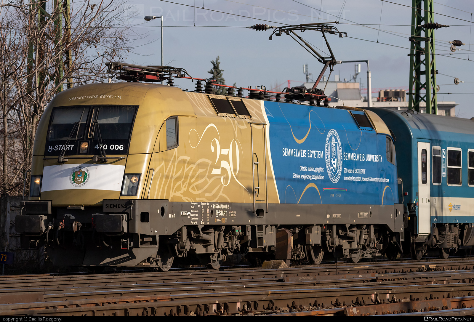 Siemens ES 64 U2 - 470 006 operated by MÁV-START ZRt. #es64 #es64u #es64u2 #eurosprinter #mav #mavstart #mavstartzrt #siemens #siemenses64 #siemenses64u #siemenses64u2 #siemenstaurus #taurus #tauruslocomotive